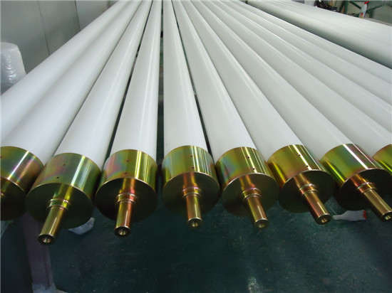 Flat glass tempering furnace ceramic roller